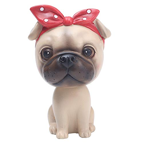 (L.DONG Bobble Head Dog Cartoon Car Dashboard Decors Puppy Shaking Head Toys (Pug) )