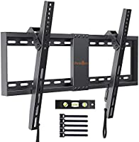 TV Wall Bracket, Tilt TV Mount for Most 37-82 inch LED, LCD, OLED, Flat&Curved TVs up to 60kg, Max VESA 600x400mm, Bubble...