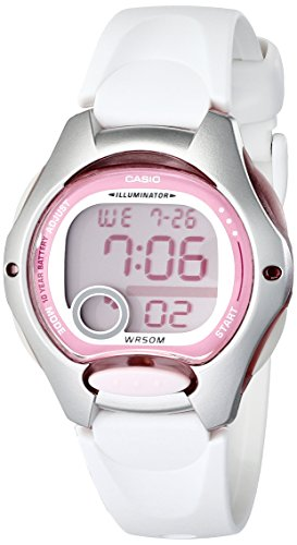 Casio Womens LW200-7AV Digital Watch with White Resin Strap
