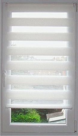 Store enrouleur jour/nuit (45 x H90 cm) Blanc: Amazon.fr: Cuisine ...