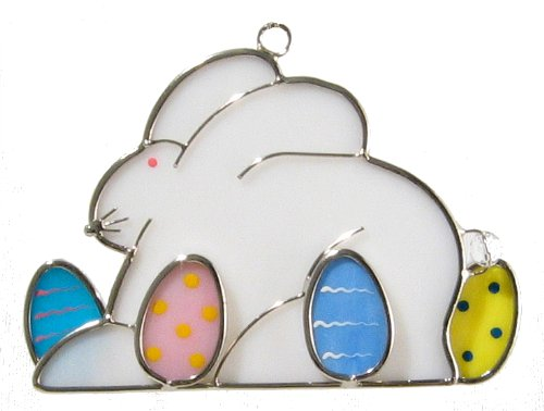 Easter Bunny Stained Glass Suncatcher ()