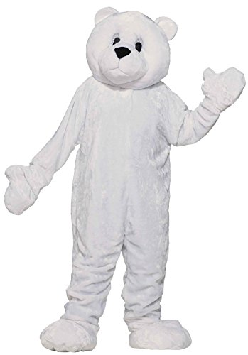 Polar Bear Mascot (UHC Polar Bear Plush Mascot Jumpsuit Funny Comical Theme Party Halloween Costume, OS)