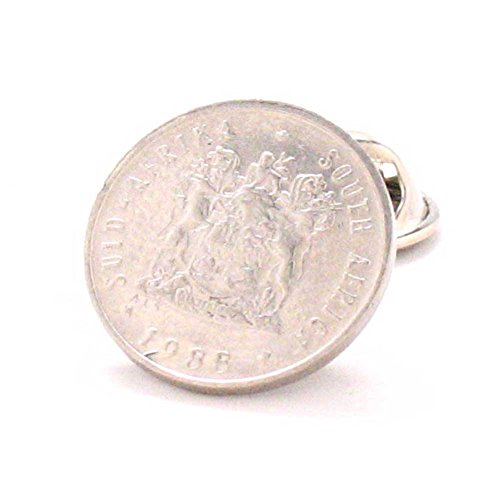 South Africa Coin Tie Tack Lapel Pin juwele Suid-Afrika Johannesburg Durban Authentic LDS Missionary by Marcos Villa