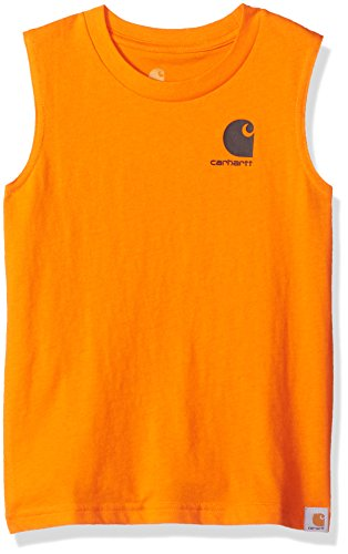 Carhartt Toddler Boys' Tank Top, Orange Tiger,4T
