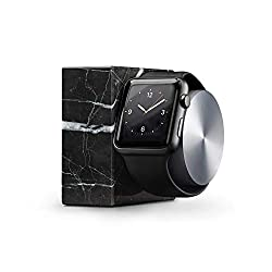 Native Union Dock (Luxury Tech) - Marble Weighted Charging Dock for Apple Watch (Black)