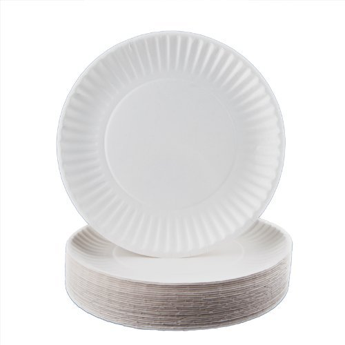 ChefLand 300 Count Paper Plates, 6-Inch, White]()