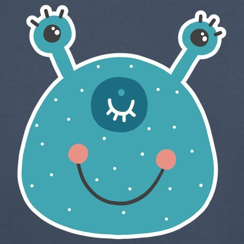 Dressdown Smiley Face Alien Baby//Toddler T-Shirt 3-24 Months