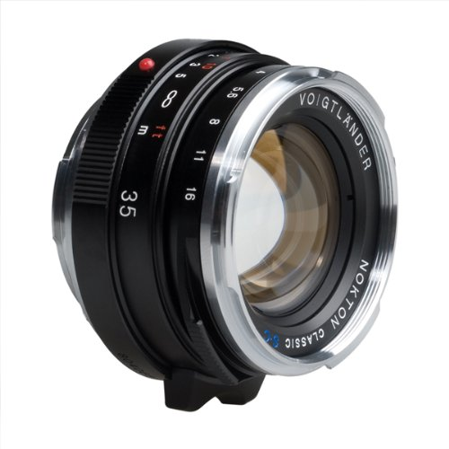 "Price comparison product image Voigtlander Voigtlander Nokton 35mm f / 1.4 Wide Angle Leica M Mount Lens ""Single Coated""- Black"