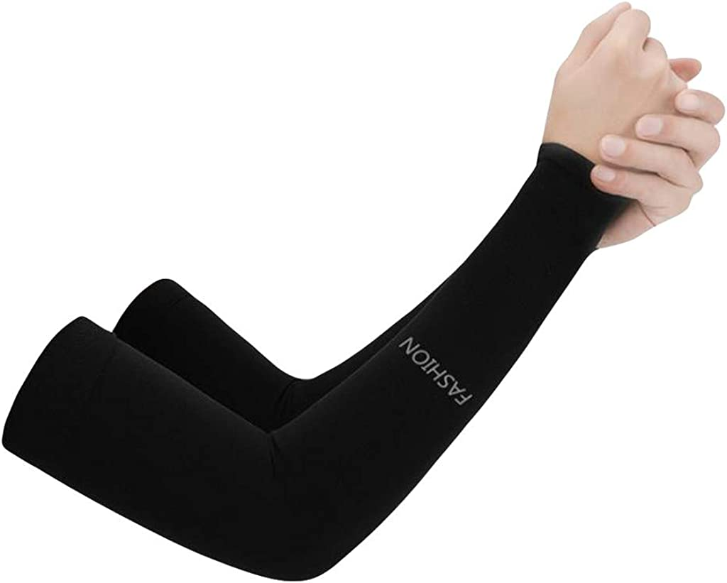 QingFan Unisex Sport Arm Sleeves Gloves Sun Protect Basketball Sunscreen Riding Sleeve for Cycling Running