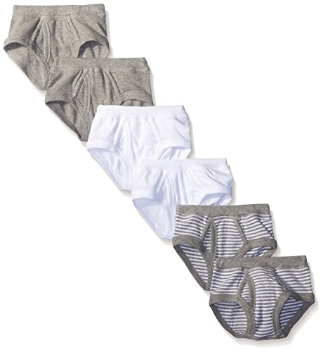 Burt's Bees Toddler Boys' Set of 6 Organic Briefs, Multi, 2T-3T