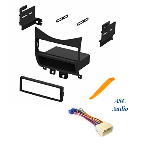 ASC Audio Car Stereo Install Dash Kit and Wire Harness for Installing an Aftermarket Single Din Radio for 2003-2007 Honda Accord ()