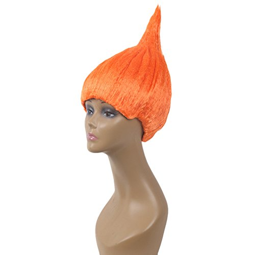 Chen Halloween Party Crazy Spirit Wig Costume Cosplay Hair Wig (Orange) ()