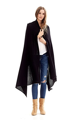 NAKEDCASHMERE Women's Karlie Wrap O/S Black by NAKEDCASHMERE