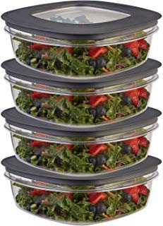 Rubbermaid (8-Piece) 9-Cup Plastic Food Storage Container Set BPA-Free Airtight Lids Meal Prep Bowls ()
