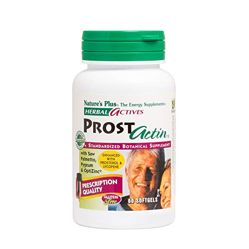 (Natures Plus Herbal Actives ProstActin - 200 IU Vitamin E, 60 Softgels - Healthy Prostate Gland Support, with Saw Palmetto, Pygeum & Pumpkin Seed Oil - Gluten Free - 30 Servings)