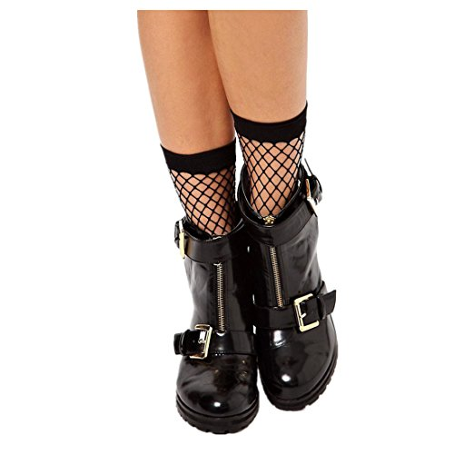 (Amiley fishnet stockings ,Socks Women Sexy Lace Fishnet Net Plain Top-Ankle Short Socks Stylish)