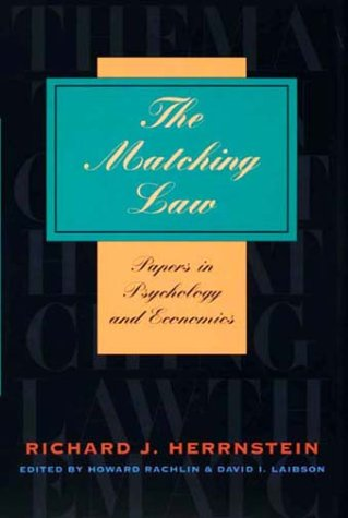Book cover from The Matching Law: Papers in Psychology and Economics by Richard J. Herrnstein
