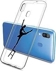 Oihxse Funda Samsung Galaxy A7 2018/A750, Ultra Delgado Transparente TPU Silicona Case Suave Claro Elegante Creativa Patrón Bumper Carcasa Anti-Arañazos Anti-Choque Protección Caso Cover (A11)
