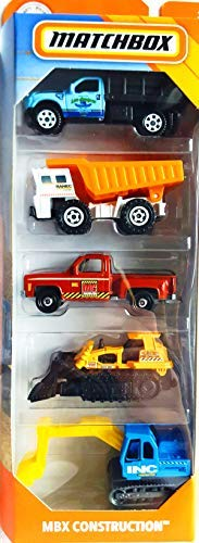Matchbox 2019 MBX Construction 1:64 Scaled 5-Pack from Matchbox