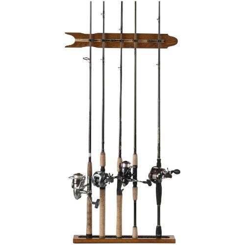 Organized Fishing 6 Rod Modular Wall Rack Oak Finish, Outdoor Stuffs