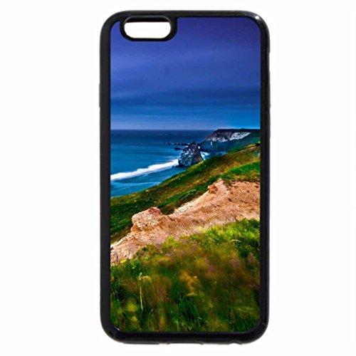 iPhone 6S Case, iPhone 6 Case (Black & White) - Oregon coast, Pacific ocean
