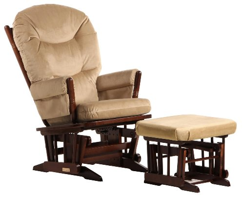 (Dutailier Colonial Glider and Ottoman Combo)