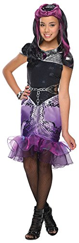 Ever After High Girls Raven Queen Costumes (Girls Halloween Costume- Ever After High Raven Queen Kids Costume Large 12-14)