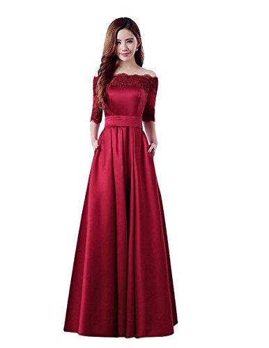 Mei&S Las Mujeres Fuera del Hombro Elegante Vestido de Prom Largo Maxi Vestido de Fiesta por