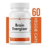 Stop Aging Now - Brain Energizer with CoQ10 and Curcumin - Supports Memory and Cognitive Performance - 60 Veggie Caps