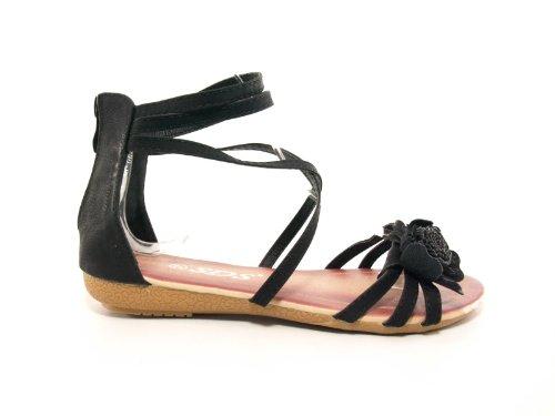 Damen Sandalen Sandalette Schwarz # 6290
