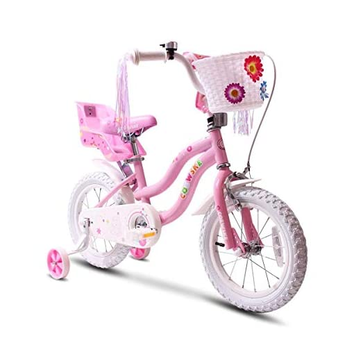COEWSKE-Kids-Bike-Steel-Frame-Children-Bicycle-Little-Princess-Style-14-16-18-Inch-with-Training-Wheel