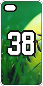 Baseball Sports Fan Player Number 38 Clear Plastic Decorative iPhone 4/4s Case