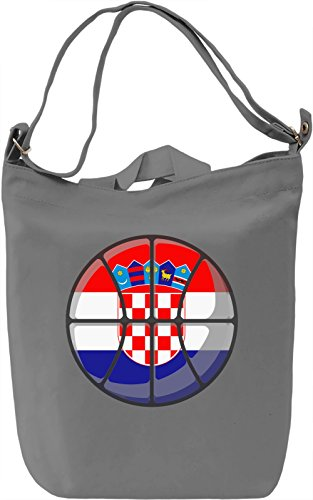 Croatia Basketball Borsa Giornaliera Canvas Canvas Day Bag| 100% Premium Cotton Canvas| DTG Printing|