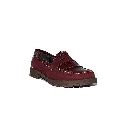 fcedfbc3d39 DIGO-DIGO Zapato Flecos 2106 Zapatos Mocasines Mujer Negros Azules Granate  en Piel Clásicos Cómodos