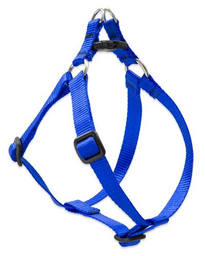 1 2-Inch W, 12-Inch to 18-Inch Lupine Step In Dog Harness, 1 2-Inch Width, 12-Inch to 18-Inch Girth, bluee