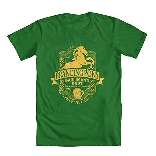 (GEEK TEEZ Prancing Pony Barliman's Best Men's T-Shirt Kelly Green Medium)