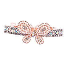 IPINK Women Hair Clip Hairpin Barrette Exquisite Crystal Butterfly Rhinestone