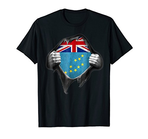 Tuvalu Flag T Shirt Tuvaluan Roots DNA Heritage