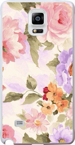 Note 4 Case, Case for Samsung Galaxy Note 4 colorful flower floral pattern