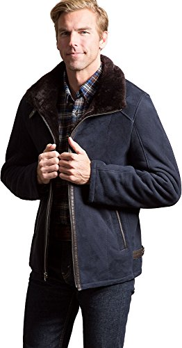 Overland Sheepskin Co Brian Spanish Merino Shearling Sheepskin Bomber Jacket