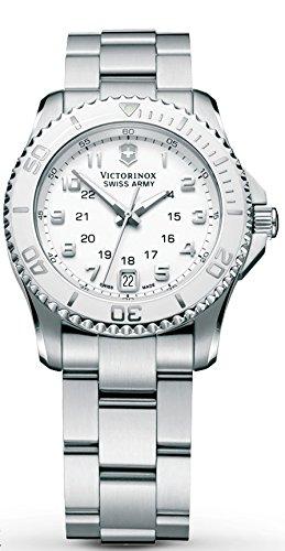 Victorinox Swiss Army White Dial Stainless Steel Quartz Ladies Watch 249051 by Victorinox