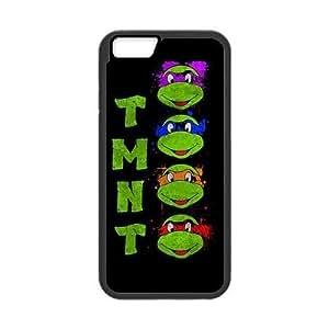 """LeonardCustom Hard Durable Rubber Fitted Cover Case for iPhone 6 4.7"""", TMNT Teenage Mutant Ninja Turtles -LCI6U154"""