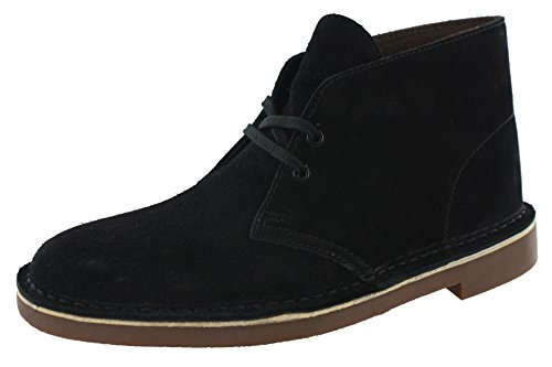 Clarks Suede Boots - CLARKS Men's Bushacre 2 Desert Boot (12, Black Suede)
