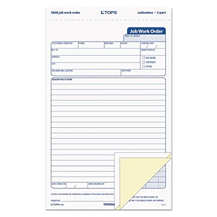american express card 4 digit code  Amazon.com : TOP5 - TOPS Triplicate Job Work Order Form ...