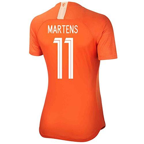 Holland Home Shirt - Martens #11 Holland Home Women's World Cup Soccer Jersey 2019/20 (S) Orange