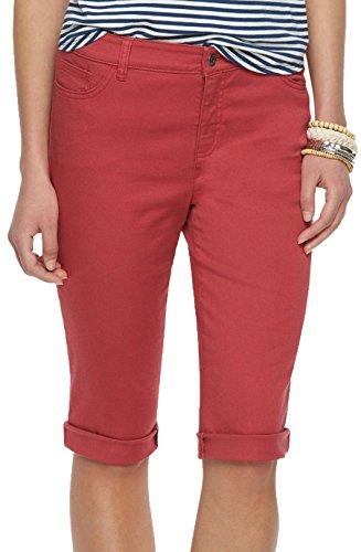 (Chaps Womens Modern Fit Bermuda Shorts (4, Pale)