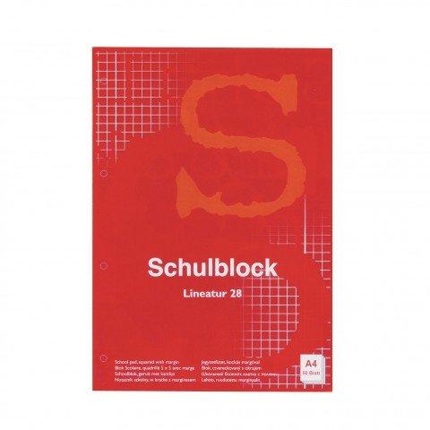 Schulblock A4 10er Sparpack 10x 50 Blatt 60g Holzfrei (karriert)