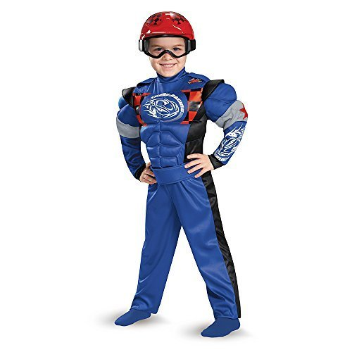 Race Car Driver Toddler Muscle Costume, Large (Car Racer Costume For Kids)