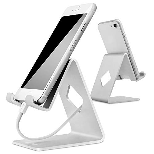 Stand for Phone, HOTOR Solid Aluminum Desk Stand for Phone x 8 7 6 & All Plus & Pad & Cell Phone & Smartphone - Silver