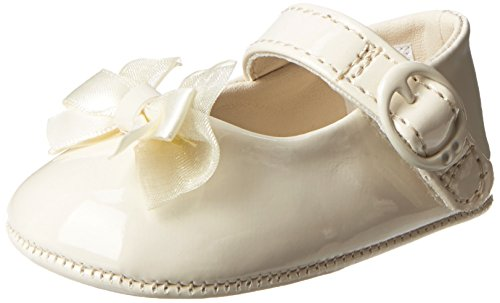 Baby Deer Patent SM With Bow Mary Jane (Infant),Ivory,1 M US Infant